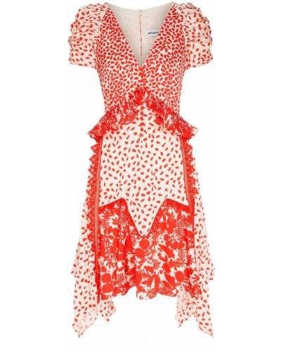 Платье миди со вставками с вырезом Self-portrait