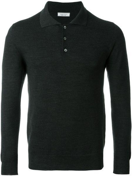Шерстяная серая футболка с длинными рукавами Fashion Clinic Timeless