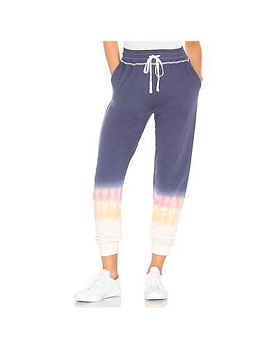 Хлопковые синие брюки на резинке с завязками с карманами Rails