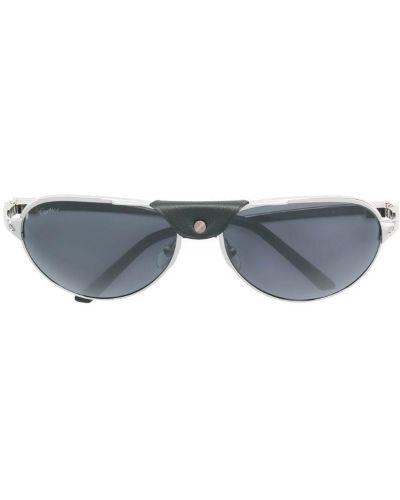 Солнцезащитные очки серые с логотипом Cartier