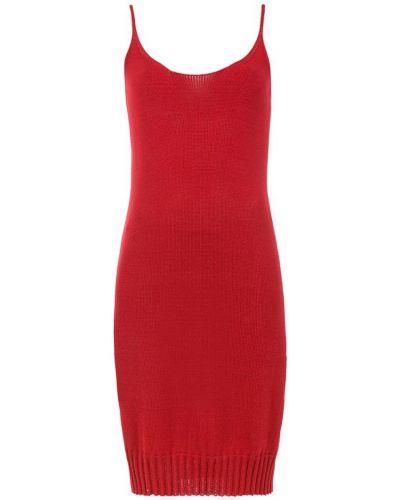 Платье на бретелях - красное Mara Mac