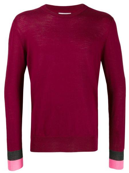 Czerwony sweter wełniany z długimi rękawami Lc23
