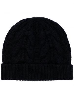 Czarna z kaszmiru czapka N.peal