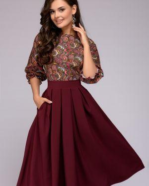 Повседневное платье со складками платье-сарафан 1001 Dress