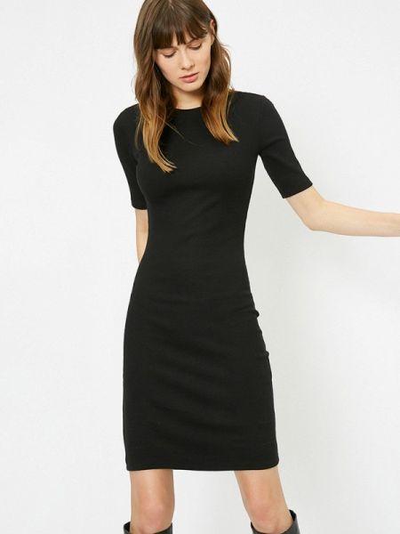 Черное футбольное платье Koton