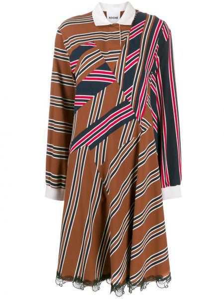 Свободное платье макси Koché