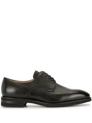 Черные кожаные туфли на каблуке Bally