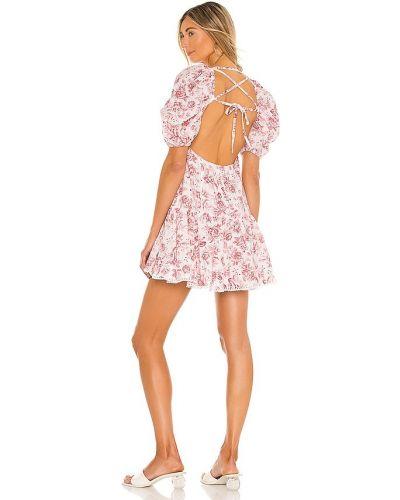 Льняное кружевное платье мини бохо Minkpink