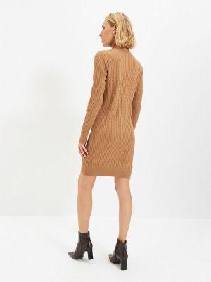 Платье - бежевое Trendyol