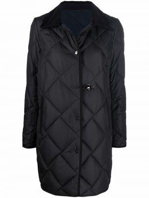 Стеганое пальто - черное Fay