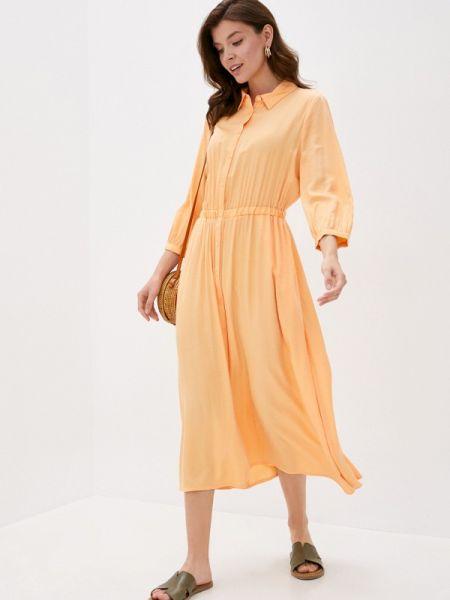 Оранжевое платье Marks & Spencer