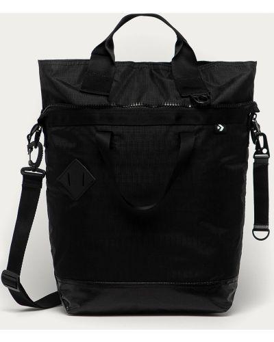 Czarna torba z krótkimi uchwytami z nylonu Converse