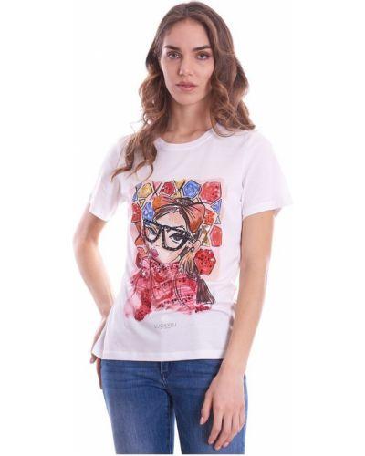 Biały t-shirt Luckylu