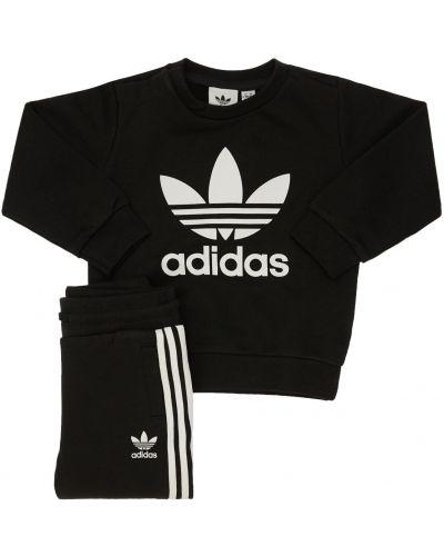 Bawełna bawełna czarny bluza na gumce Adidas Originals