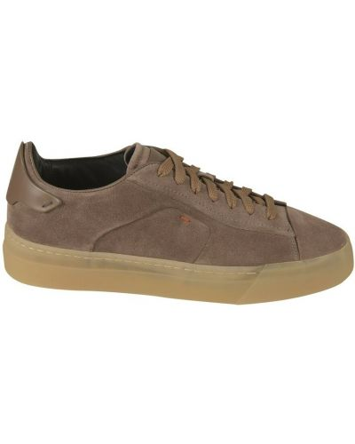 Brązowe sneakersy Santoni