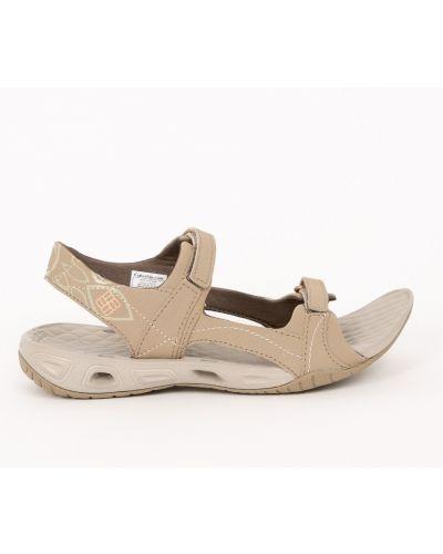 Бежевые сандалии текстильные Columbia