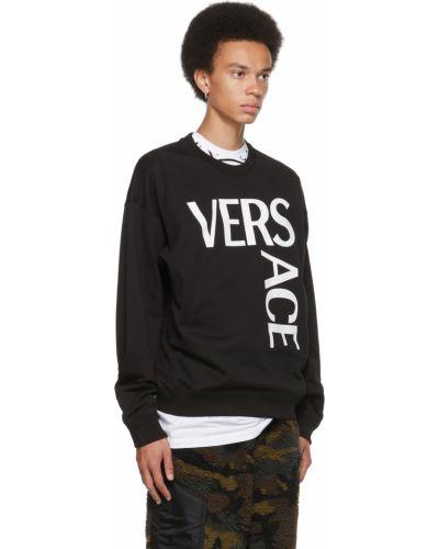 Biała bluza z długimi rękawami Versace