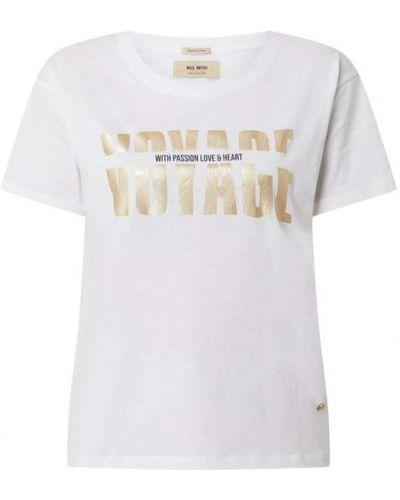 T-shirt z printem - biała Mos Mosh