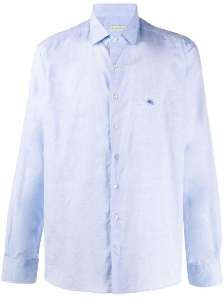 Koszula z długim rękawem klasyczna z logo Etro