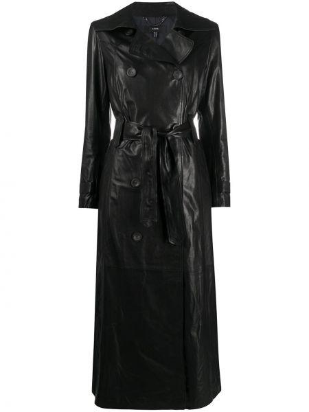 С рукавами черное пальто на пуговицах свободного кроя Arma