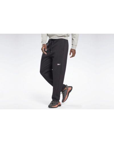 Czarne spodnie dresowe bawełniane Reebok