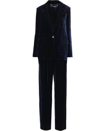 Бархатный костюм - синий Stella Mccartney