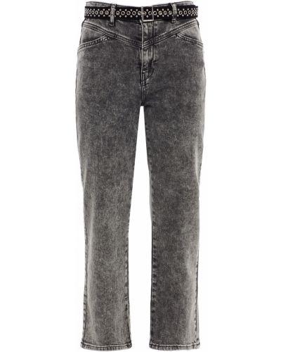 Джинсовые прямые джинсы - серые Maje