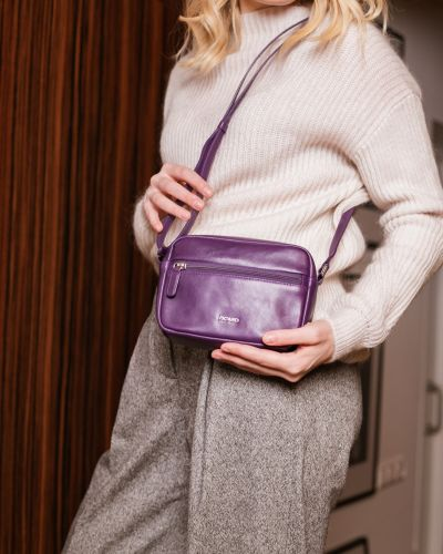 Кожаная сумка через плечо - фиолетовая Picard
