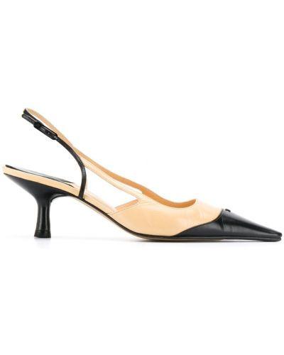 Туфли на каблуке с открытой пяткой лодочки Chanel Vintage