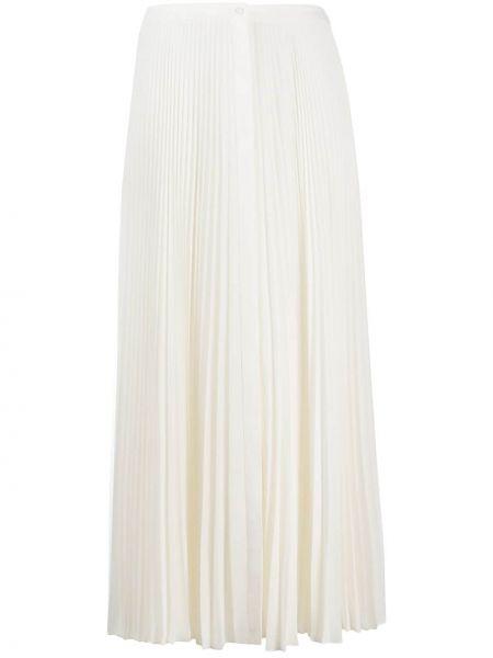 Плиссированная белая юбка миди Theory