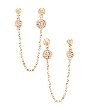 Серьги-гвоздики металлические золотые позолоченные Ettika