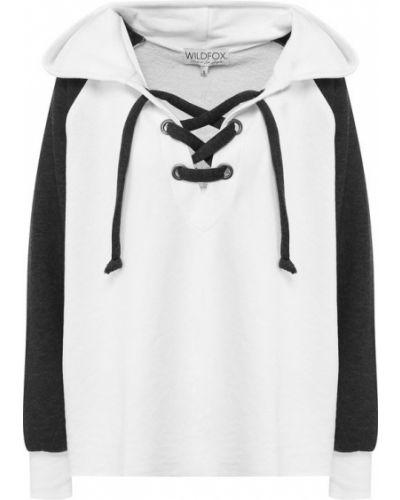 Свитер с капюшоном черно-белый Wildfox