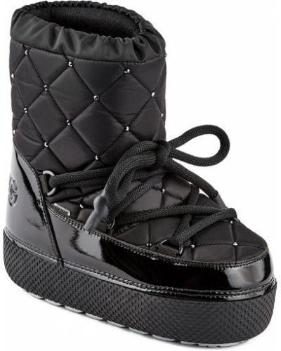 Текстильные черные луноходы на шнурках Jog Dog