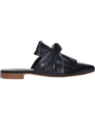 Шлепанцы на каблуке черные Pertini