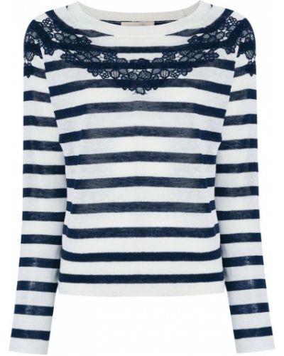 Белый свитер в полоску Vanessa Bruno