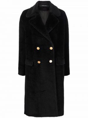 Черное пальто миди Tagliatore