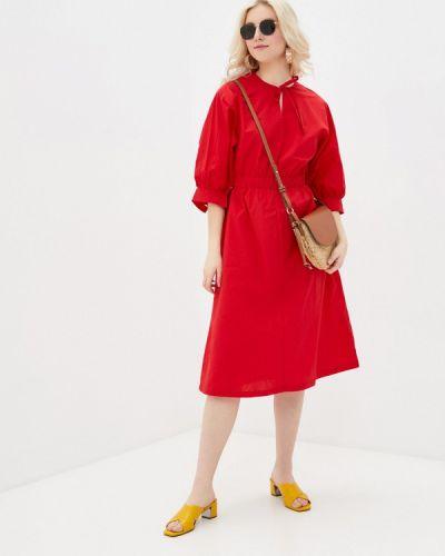 Прямое красное платье А-силуэта Incity