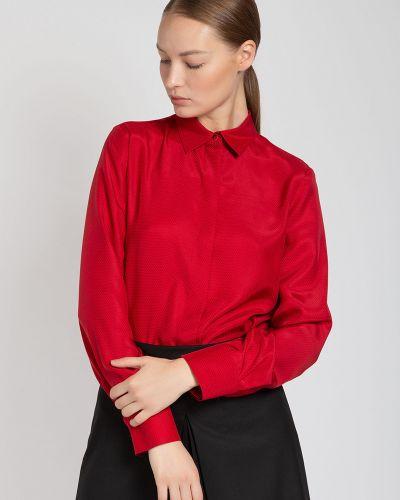 Блузка классическая шелковая Vassa&co