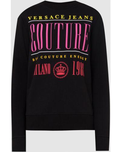 Джинсовое худи - черный Versace Jeans Couture