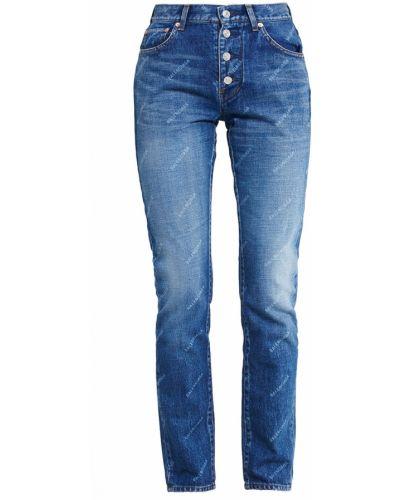 Прямые джинсы скинни синие Balenciaga