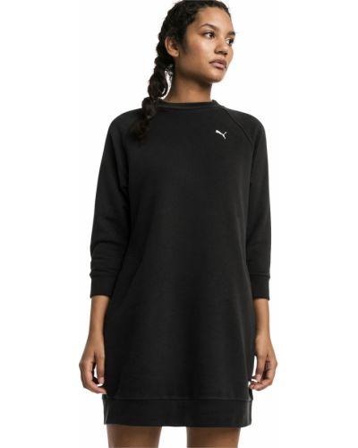 Платье с карманами черное Puma
