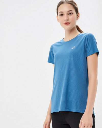 Голубая футболка Asics