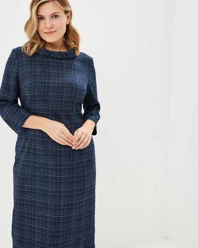 Платье осеннее синее Borboleta