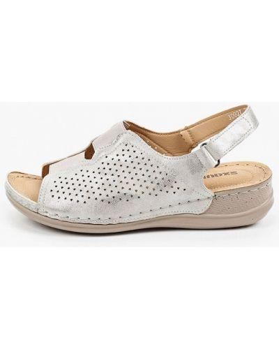 Серебряные сандалии Exquily