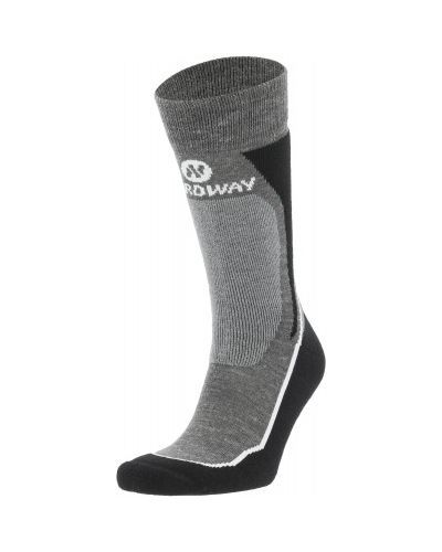 Компрессионные черные шерстяные спортивные носки Nordway