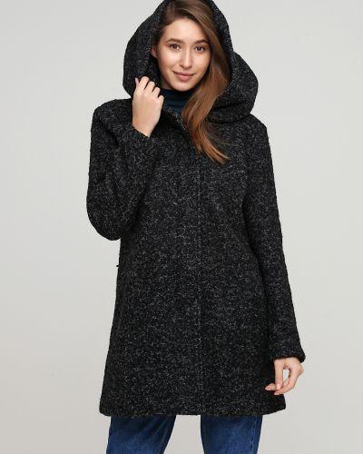 Пальто с капюшоном - серое Only