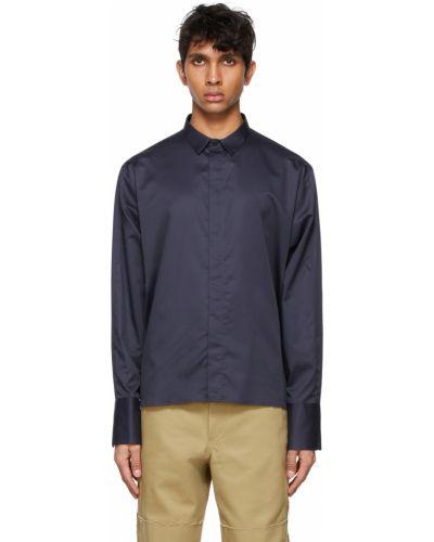 Czarna koszula oxford bawełniana z długimi rękawami Ader Error