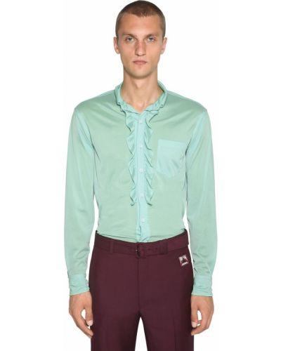 Трикотажная рубашка с воротником с манжетами Prada