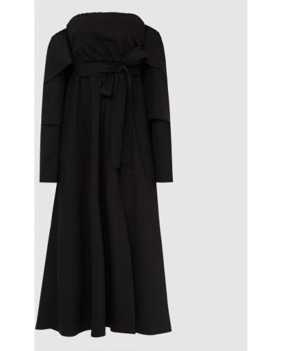 Черное платье миди Red Valentino