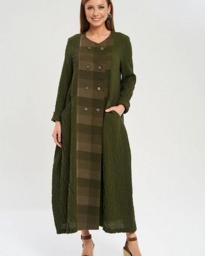 Пальто зеленое летнее Akimbo